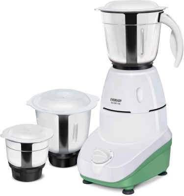 EVEREADY Glowy GLOWY DX 500 Mixer Grinder (3 Jars, White and Green)