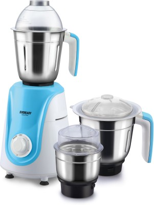 EVEREADY Easy Pro 600 Mixer Grinder (3 Jars, White and Blue)