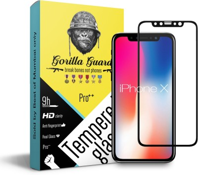 Gorilla guard Edge To Edge Tempered Glass for Apple iPhone X(Pack of 1)