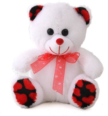 Gifteria SOFT   CUTE WHITE BABY TEDDY BEAR   25CM  White   Green    24 cm White Gifteria Soft Toys