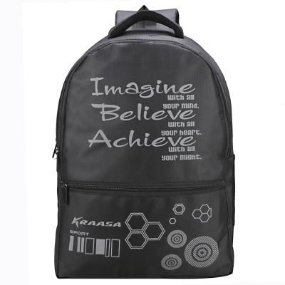 Kraasa Believe 25 L Laptop Backpack Black Kraasa Backpacks