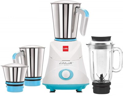 cello ELITE + MIXER GRINDER WITH 4 JAR 500 Mixer Grinder(White, Blue, 4 Jars)