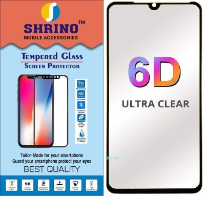 SHRINO Tempered Glass Guard for Shrino Full Glue, Full Coverage Edge-to-Edge 6D Tempered Glass Screen Protector for Samsung Galaxy A50 (Black)(Pack of 1)