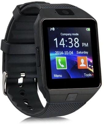 Atina DZ09 phone Smartwatch(Black Strap, FREE SIZE)