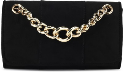 Miss CL Casual Black  Clutch at flipkart