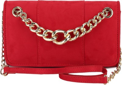 Miss CL Casual Red  Clutch at flipkart