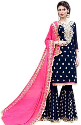 Viha Printed Semi Stitched Lehenga Choli(Multicolor)