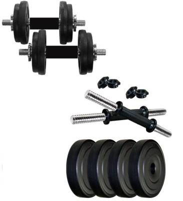 Monika Sports 4 plates of 1 kg each + 2 dumbell rods for exercise Home Gym Kit Monika Sports Fitness Kits