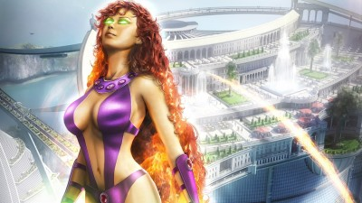 Comics Starfire HD Wallpaper Background Photographic Paper(12 inch X 18 inch, Rolled)