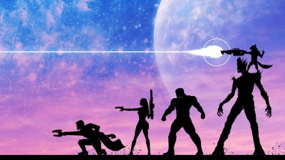 Guardians Of The Galaxy Star Lord Gamora Drax The Destroyer Groot Peter Quill Rocket Raccoon Frameless Fine Quality Poster Paper Print(12 inch X 18 inch, Rolled) at flipkart