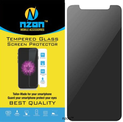 nzon Edge To Edge Tempered Glass for IPhone XR Tempered Glass Privacy Screen Protectors [Edge to Edge][Case Friendly] 2.5D Curved [Anti-Fingerprint] iPhone XR (NZ-SLTGPR-8500)- Black(Pack of 1)