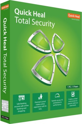 Quick Heal Total Security 1 User 3 Years(CD/DVD)