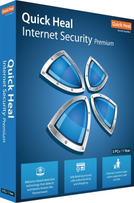 Quick Heal Internet Security 3 User 1 Year(CD/DVD)