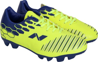 Nivia Premier Cleats Football Shoes For Men Blue, Yellow