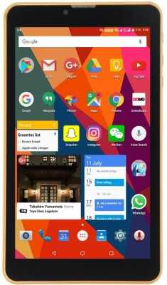 Domo Slate S7 8 GB 7 inch with 4G Tablet (Gold) at flipkart