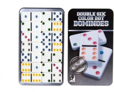 Authfort Dominos Set, Double 6 Color Dot Dominoes,Set of 28 Dominos Game