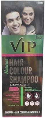 VIP Hair Colour Shampoo 5 in 1 Hair Color(Black)