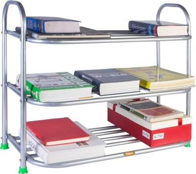 Patelraj Metal Shoe Stand(Silver, 3 Shelves)