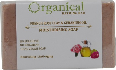 ORGANICAL Rose & Geranium Oil Soap ( Moisturising Bar ) | Sulphate & Paraben Free | 150 Gms(150 g) at flipkart