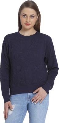 Only Full Sleeve Self Design Women Sweatshirt Only Women's Sweatshirts