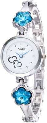 Foxter New Arrival Stylish Attractive Ethnic Blue Bracelet Look Watch  - For Women