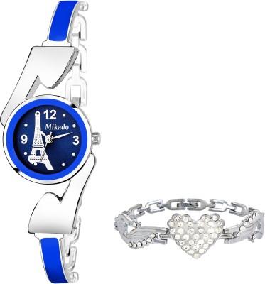 ac38eef97 -89%. Mikado Blue Bracelet set combo for Girls and Women Analog Watch ...