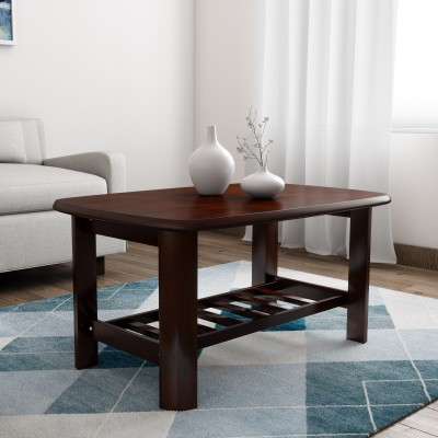 Woodness Antony Solid Wood Coffee Table(Finish Color - Mahogany)