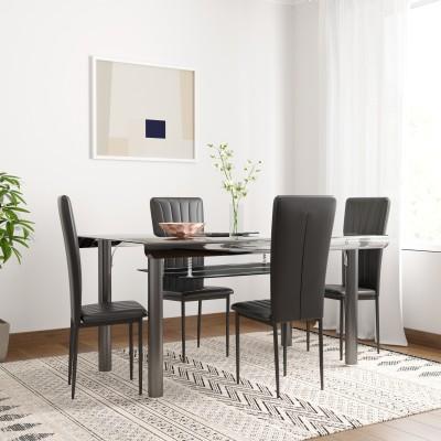 Woodness Milan Metal 4 Seater Dining Set(Finish Color - Black)
