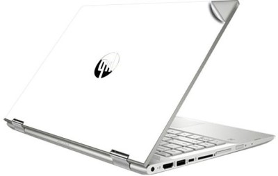GADGETS WRAP GW-80438 Jet White Glossy Top Only Skin for HP X360 Convertible 14BE075TX Vinyl Laptop Decal 14