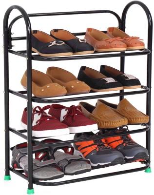 Raj SmartBuy 4 Tiers Metal Shoe Stand(Black, 4 Shelves)