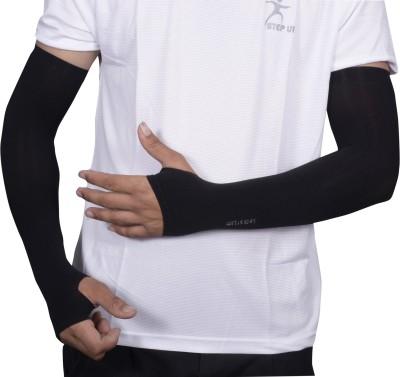 JG FORCEMAN JGAR_002 Nylon, Cotton Arm Warmer(Black)