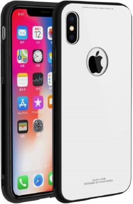 MagicHub Back Cover for Apple iPhone X(Glass White)