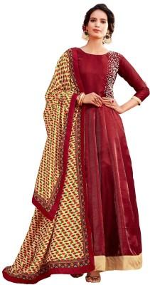 ladies queen Georgette Embellished Semi-stitched Salwar Suit Dupatta Material(Semi Stitched)