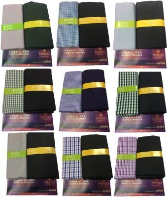 Raymond Poly Viscose Self Design, Striped Shirt & Trouser Fabric(Unstitched)