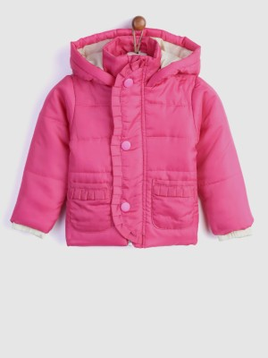 Yk Full Sleeve Solid Girls Jacket