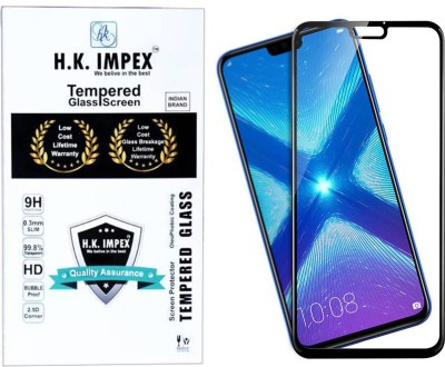 H.K.Impex Edge To Edge Tempered Glass for Honor 8X(Pack of 1)