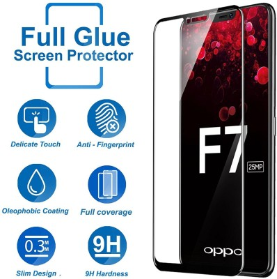 Hupshy Tempered Glass Guard for OPPO F7(Pack of 1)