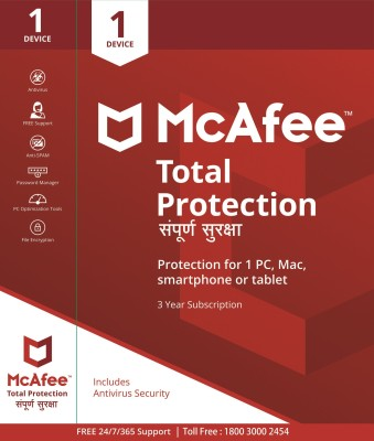 McAfee Total Security 1.0 User 3 Years(CD/DVD)