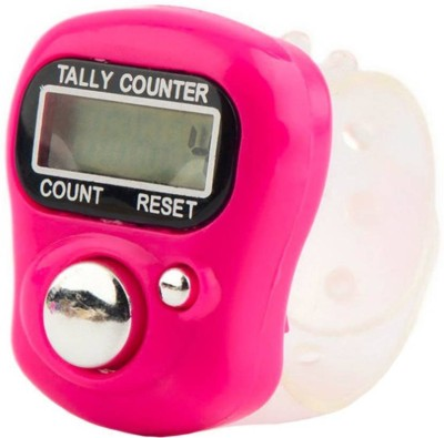 Arura 1 Piece Mini Hand Tally Counter Finger Ring Digital Electronic Head Count Digital Tally Counter(Multicolor Pack of 1)