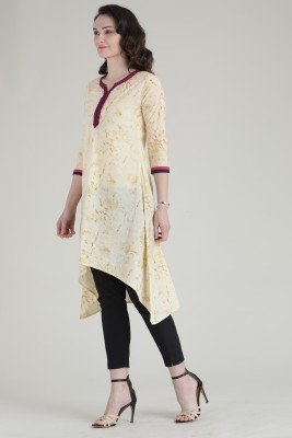 Mokshi Women Embroidered, Floral Print Straight Kurta(Multicolor)