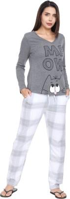 SharkTribe Women Printed Multicolor Top & Pyjama Set