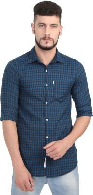 Asian & Fitch Men Checkered Casual Blue, Black, Grey Shirt