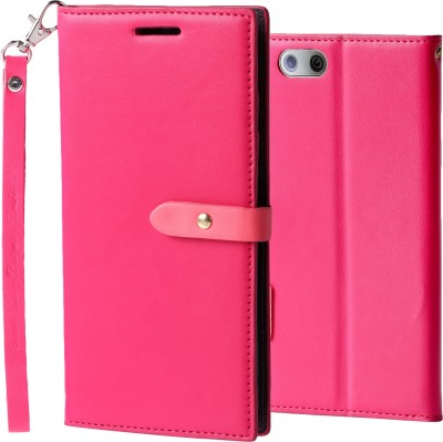 mobii care Flip Cover for OPPO F1s(pink, Shock Proof)