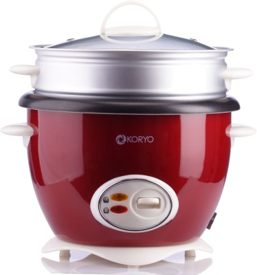 Koryo KEC 1900 Autocook Electric Cooker With Steamer 1.8 L Capacity Electric Pressure Cooker(1.8 L, Red) at flipkart