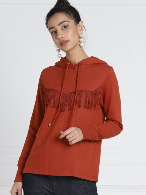 All About You Full Sleeve Solid Women Sweatshirt at flipkart