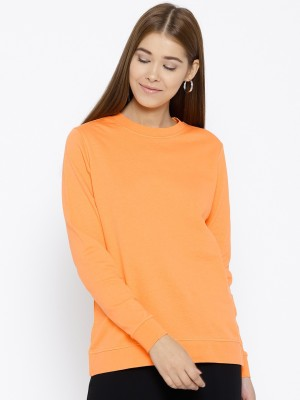 HERE&NOW Full Sleeve Solid Women Sweatshirt at flipkart