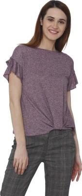 VERO MODA Casual Half Sleeve Solid Women Pink Top VERO MODA Women's Tops