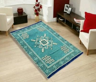 MR VIHAAN Multicolor Cotton Carpet(121 cm X 183 cm)