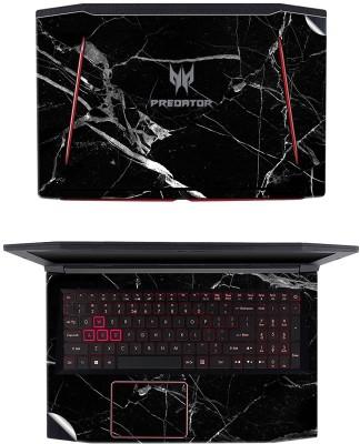 GADGETS WRAP GW-81102 Black Marble Top & Inside Skin Vinyl Laptop Decal 15.6
