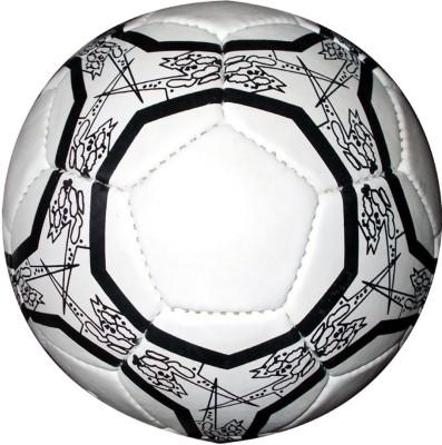 IP Black and White Design Football   Size: 5 Pack of 1, White, Black